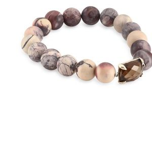 CHAN LUU MATTE TIGER EYE STRETCH BRACELET